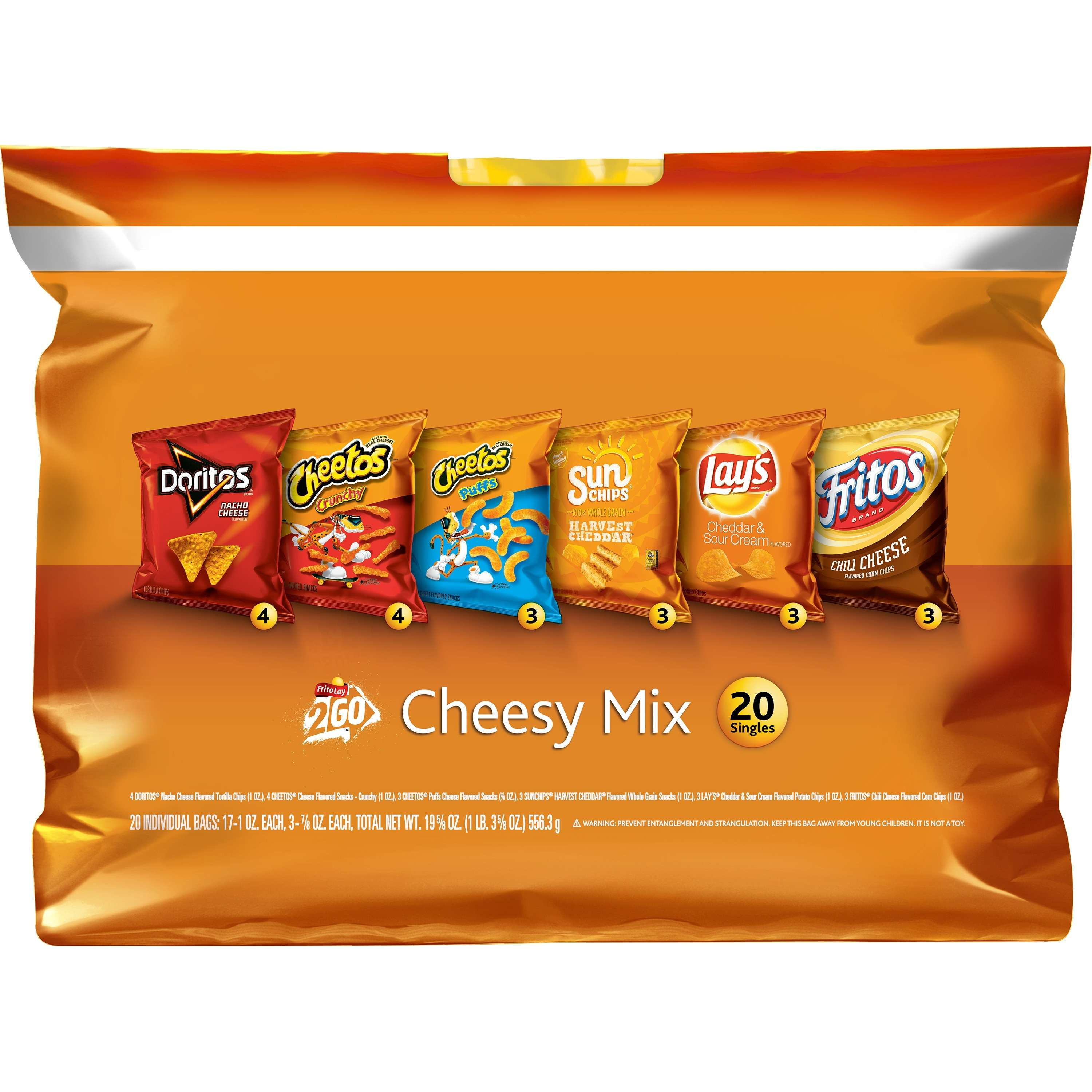 Frito-Lay Cheesy Mix Variety Pack, 20 Count