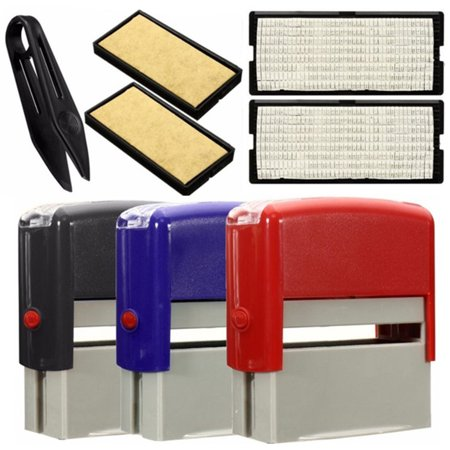 DIY Personalised Self-Inking Rubber Stamp Kit Customized Business Name (Best Place To Sell Stamps)