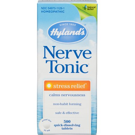 Hyland's Nerve Tonic Stress Relief Tablets, Natural Relief of Stress, 500 Count Hylands Homeopathic Nerve Tonic