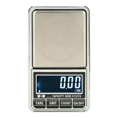 Mini Digital Pocket Scale - Professional Mini Digital Scale Jewelry Electronic Pocket Scale Precision Balance 600g*0.01g