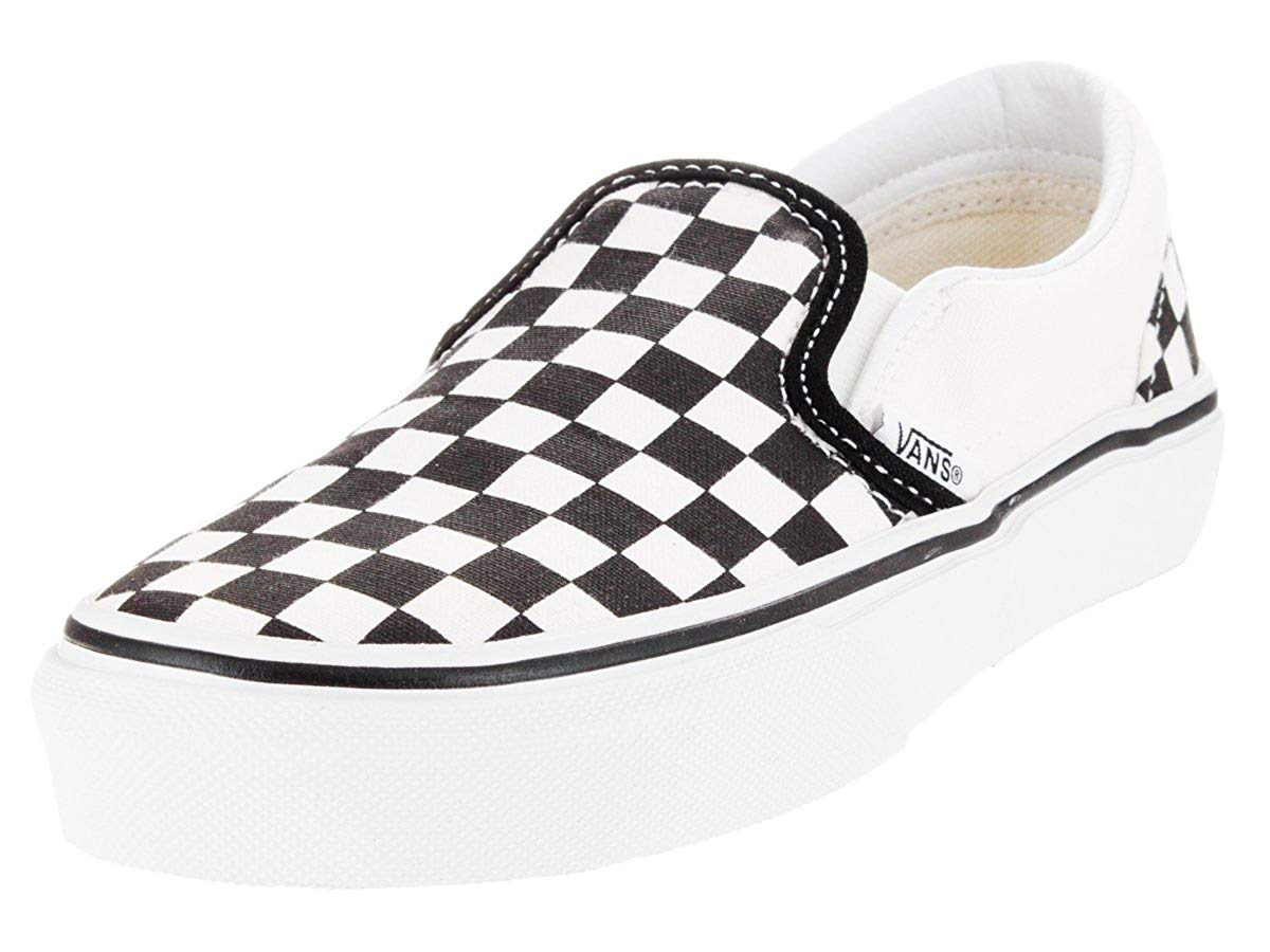 kids checkered vans size 4