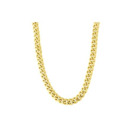 effb24b2377df Beauniq Men's 14k Yellow Gold Classic Miami Cuban Link Chain Necklace or  Bracelet