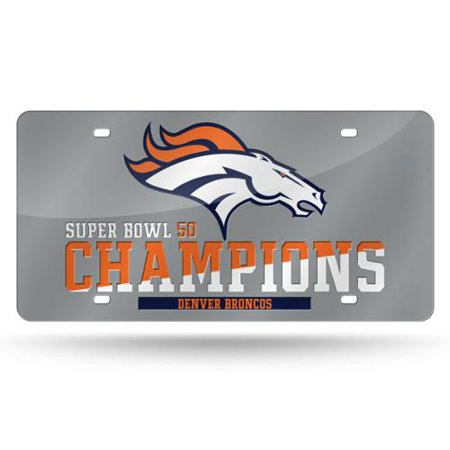 Denver Broncos Official NFL 12 inch  x 6 inch  Super Bowl 50 Champions Laser License Plate by Rico