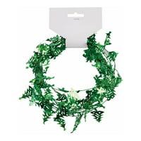 9' Mini Christmas Tree Garland Hanging Wall Decoration Holiday Decal