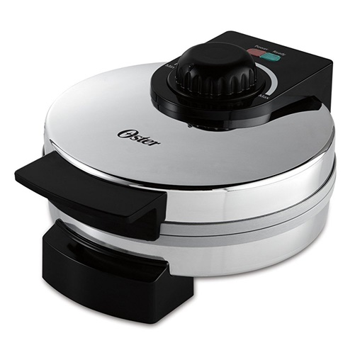Oster Titanium Infused DuraCeramic Chrome Belgian Waffle Maker