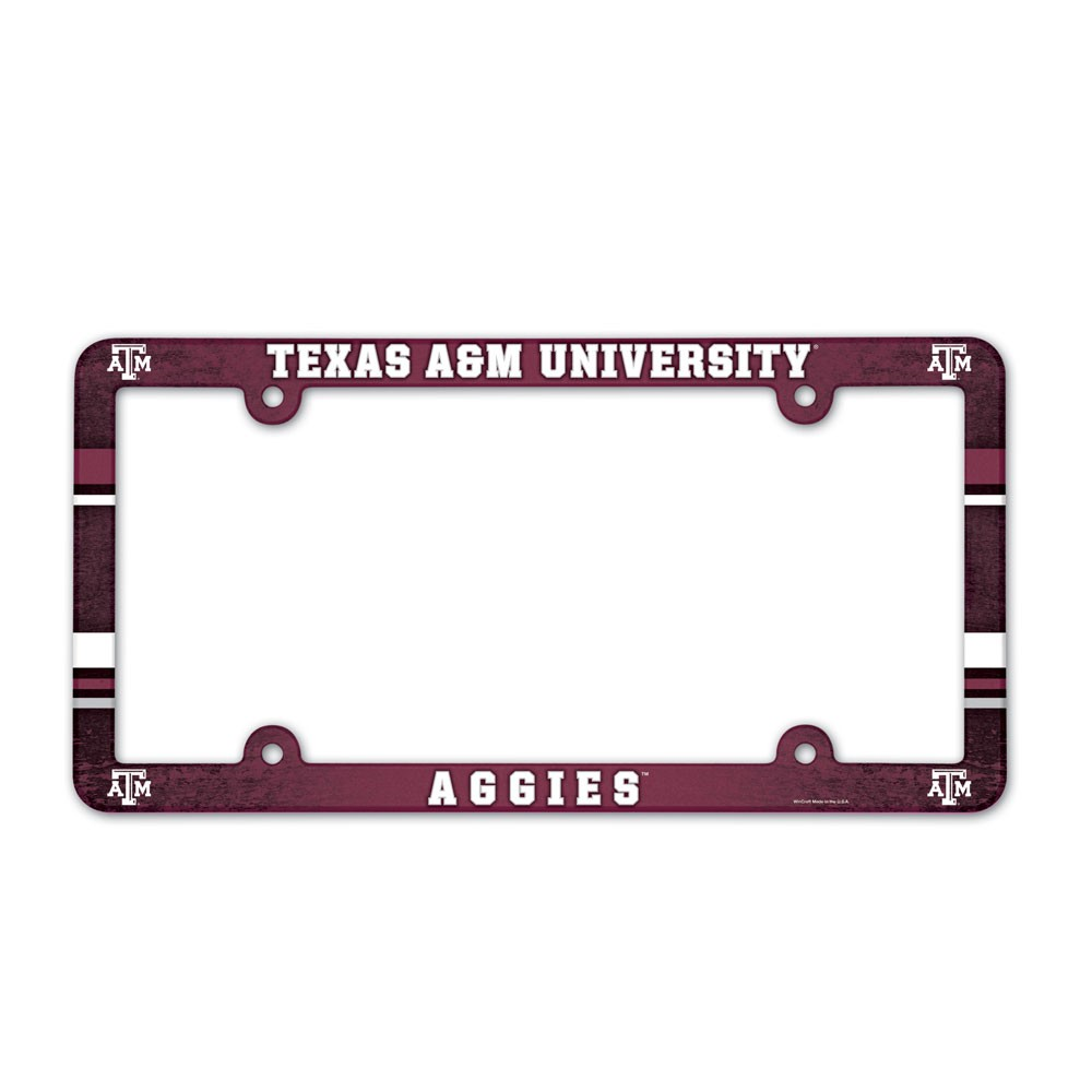 Texas A&M Aggies Official NCAA 12 inch x 6 inch  Plastic License Plate Frame by Wincraft