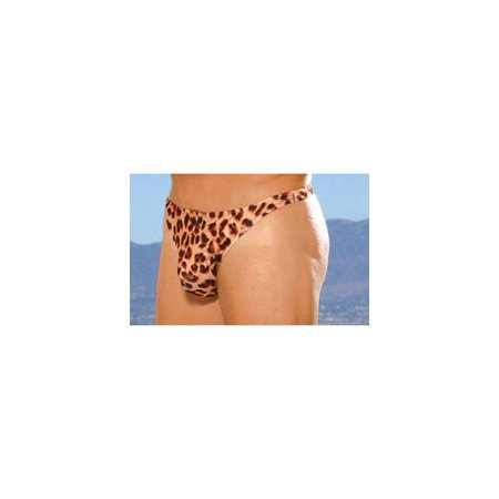 Elegant Moments Sexy Men?s Leopard Thong 269 Leopard Print