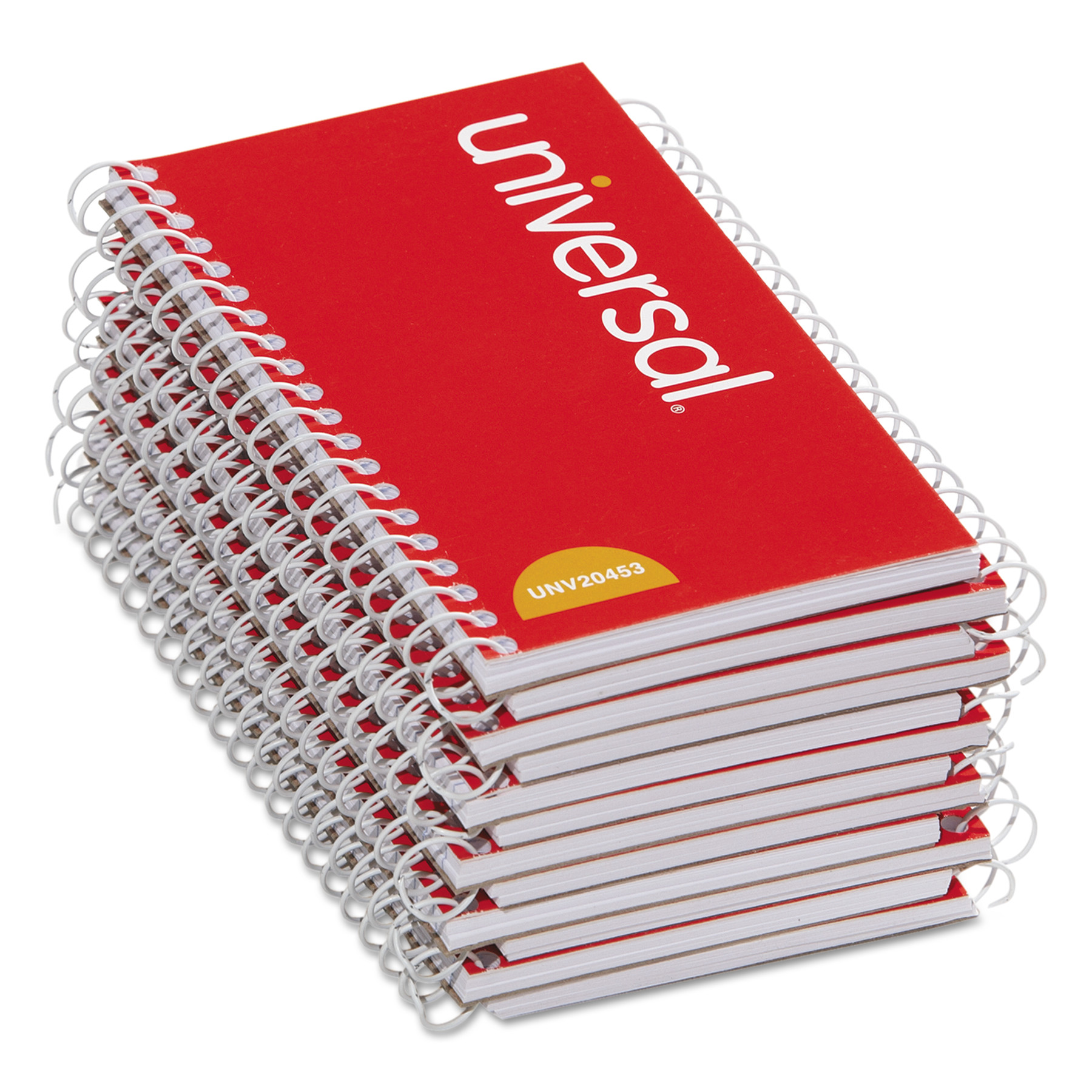 Universal Wirebound Memo Book, Narrow Rule, 5 x 3, Orange, 12 50 Sheet Pads/Pack