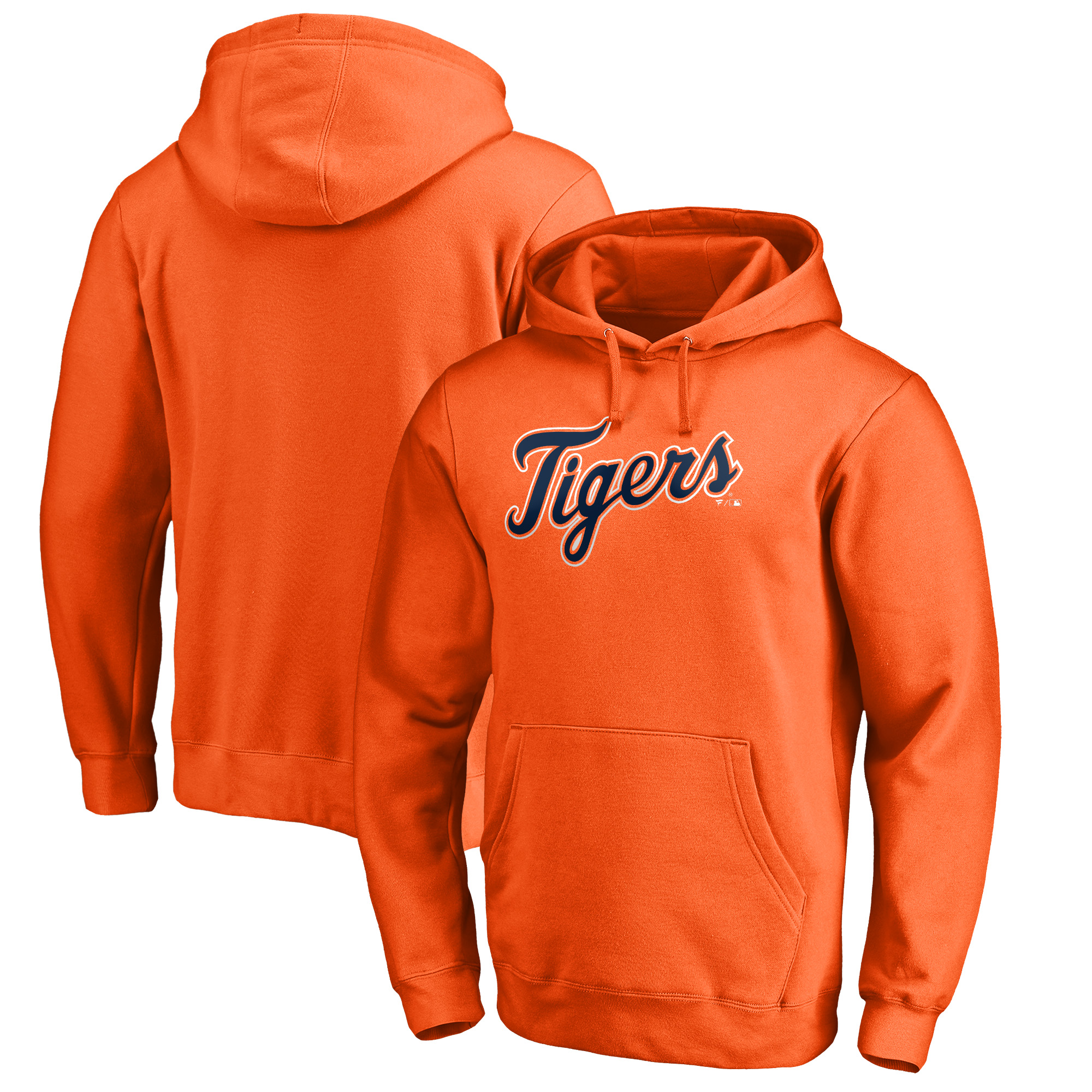 Detroit Tigers Fanatics Branded Team Wordmark Pullover Hoodie - Orange