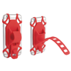 Sports Bicycle Motorcycle Stroller ATV MTB Gym Workout Bike Phone HANDLEBAR RED Mount Holder For ZTE Majesty Pro PLUS Z899VL, Blade Spark, ZMAX Champ, ZMAX Grand, ZFIVE C LTE Z558VL, Zfive L Z861BL *DURABLE BEYOND IMAGINATION. Made from a single molded piece of high quality & elastic silicone, this new cell holder does not have moving or glued parts. This provides the excellent durability that makes it the phone mount of choice for all kinds of bikers including the pros. *SECURE and SHOCK-ABSORBENT. Fully protect your smartphone! The flexible silicone absorbs all shocks unlike the plastic holders out there. Once fixed your phone will never fall off no matter how rough the terrain. This cell phone holder offers a firm grip and keeps your phone safe no matter how fast or hard you ride. The soft silicone will never scratch bend or affect your smartphone in any way.