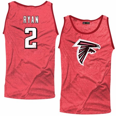 1fdbe25a Matt Ryan Atlanta Falcons Majestic Threads Primary Logo Name & Number  Tri-Blend Tank Top - Red