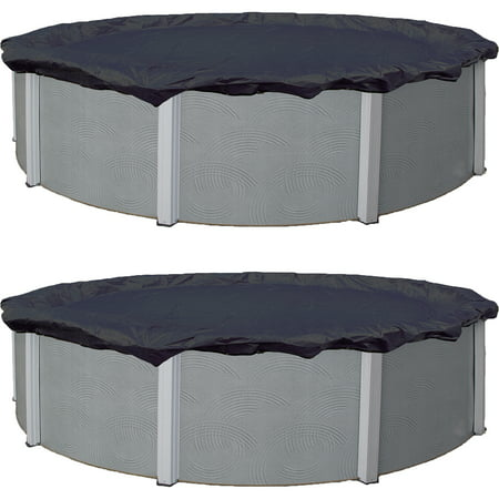 Blue Wave Bronze 8-Year 12 Round Above-Ground Pool Winter Cover, 2 pack