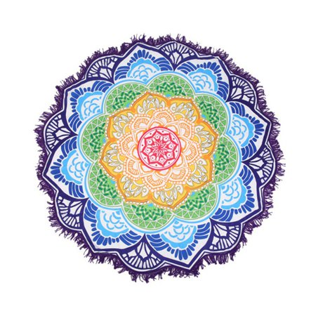 Dogs Tapestry Throw Blanket (Round Mandala Indian Hippie Tapestry Beach Picnic Throw Towel Yoga Mat Blanket)