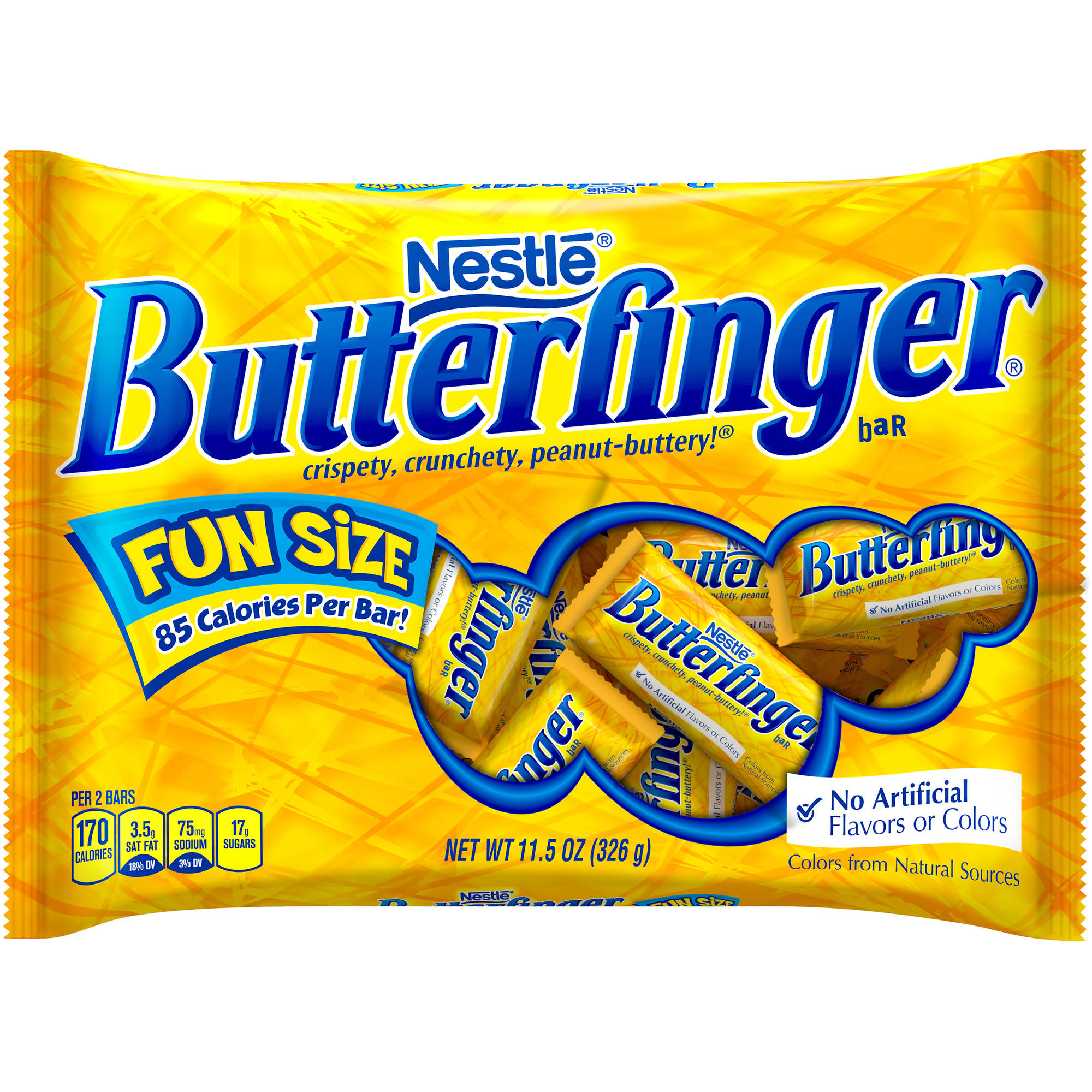 Butterfinger Fun Size Halloween Chocolate Candy Bars, 11.5 oz