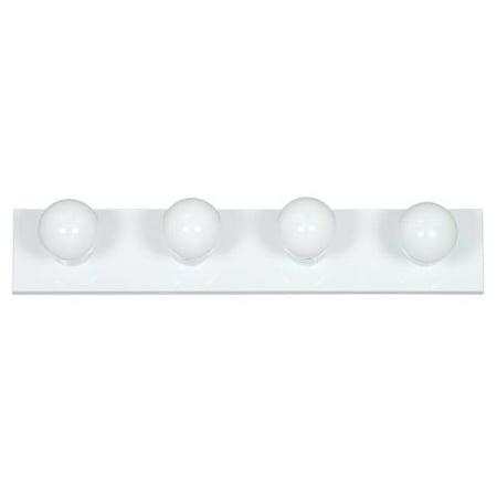Large Four Light Vanity - Sunset Lighting F2253 4 Light 240 Watt Bathroom Vanity Strip