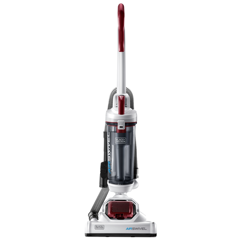 Black + Decker Bagless Air Swivel Upright Vacuum, Red, BDASL107