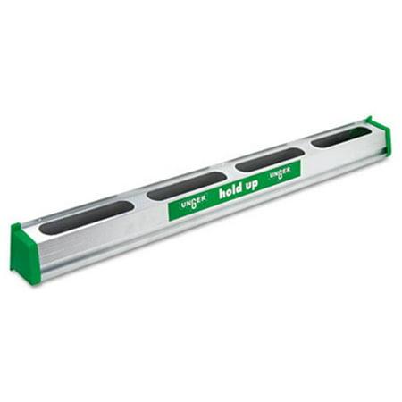 "Unger Hold Up Aluminum Tool Rack, 36"", Aluminum/Green"