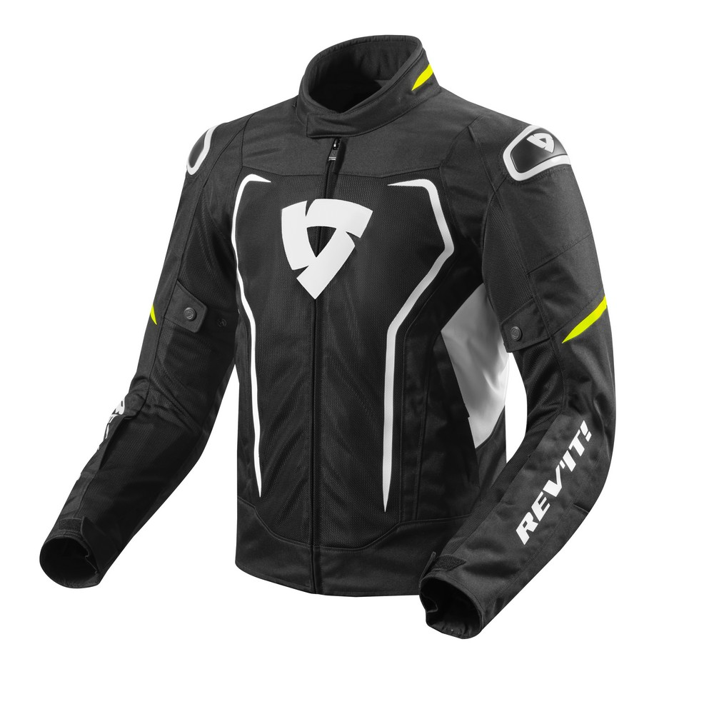 Rev'It Vertex Air Mens Textile Jacket Black/Neon Yellow