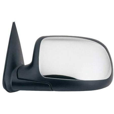 62142G - Fit System Driver Side Towing Mirror for 00-06 Escalade, Suburban, Tahoe, Yukon, Denali/ XL, 99-06 Silverado/ Sierra, 07 Silverado/ Sierra Classic, txt black w/ chrome cover, fold, Manual