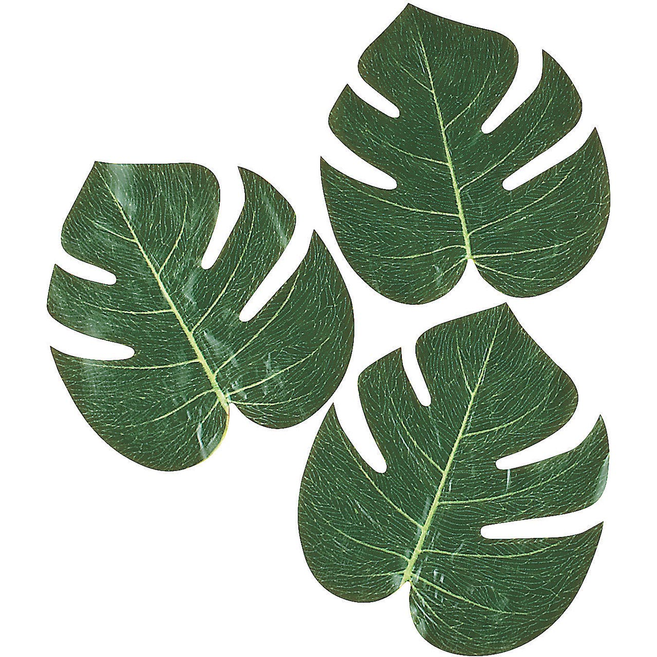 12 Polyester Tropical Green Palm Leaves Luau Hawaiian artificial Decoration