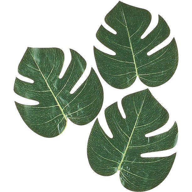 Artificial Tropical Leaves 12pc Home Decor 12 Pieces Walmart Com Walmart Com Small leaf vases in living room. artificial tropical leaves 12pc home decor 12 pieces