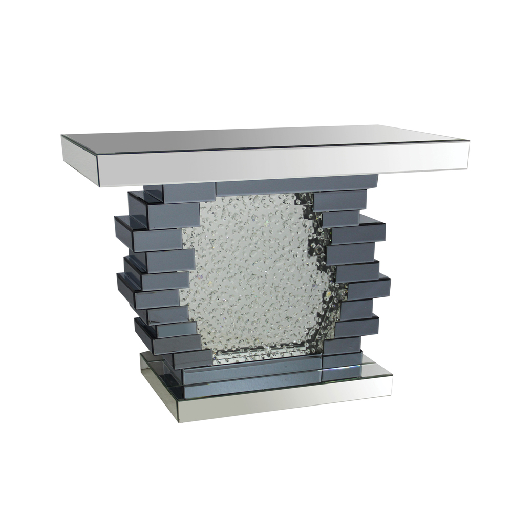 Acme Furniture Nelsa Console Table, Mirrored by Acme Furniture