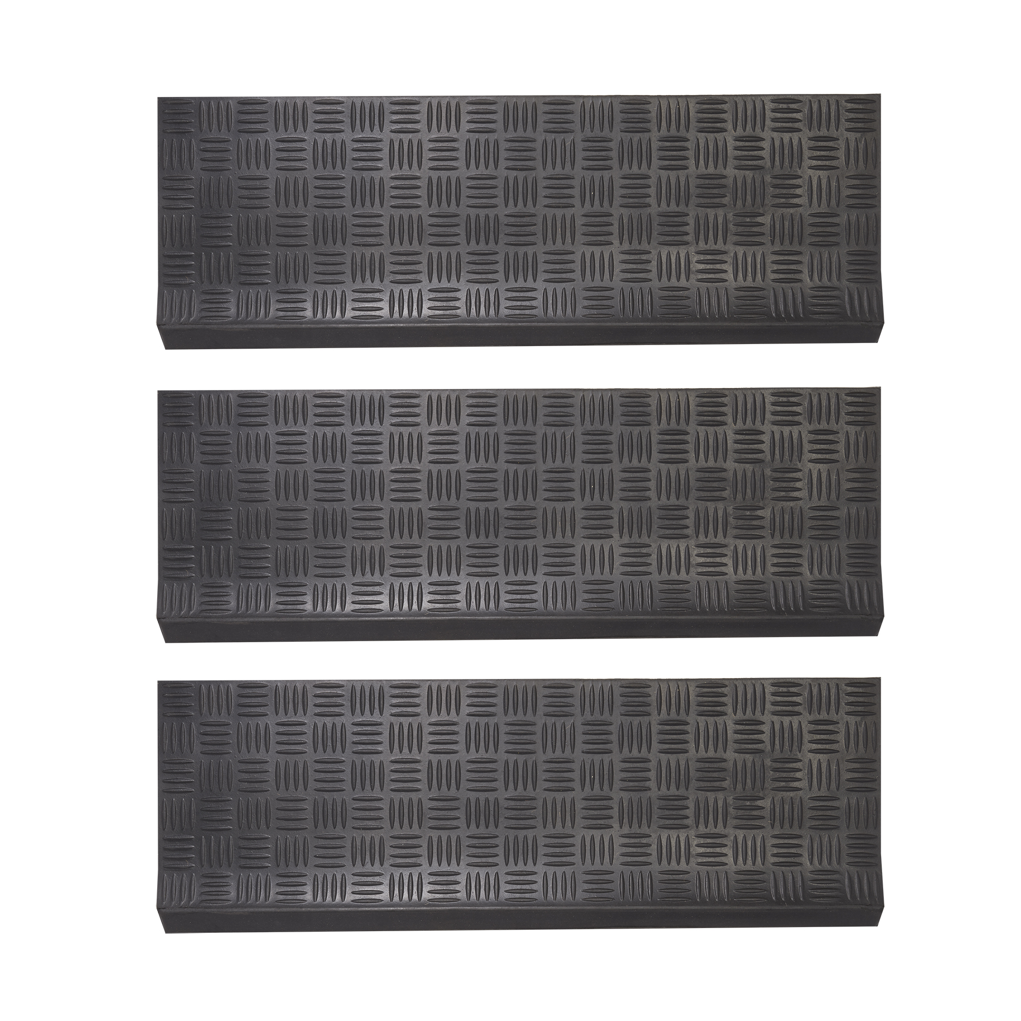 Envelor Home And Garden Indoor Outdoor Stair Treads Non Slip Rubber Stair Mats Non Slip Stair Treads Weatherproof Staircase Step Treads Skid Resistant Safety Step Mats 3 Pack Checker Pattern Walmart Com