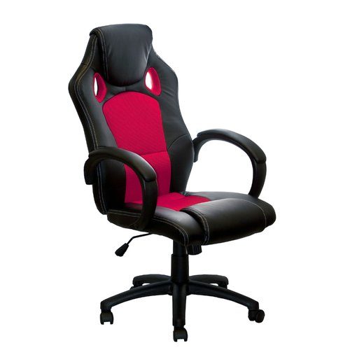 ALEKO ALC2324RED High Office Ergonomic Computer Desk Chair, PU Leather, Red