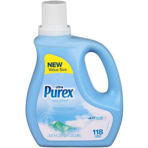 Purex Ultra Mountain Breeze Liquid Fabric Softener, 118 loads, 100 fl oz