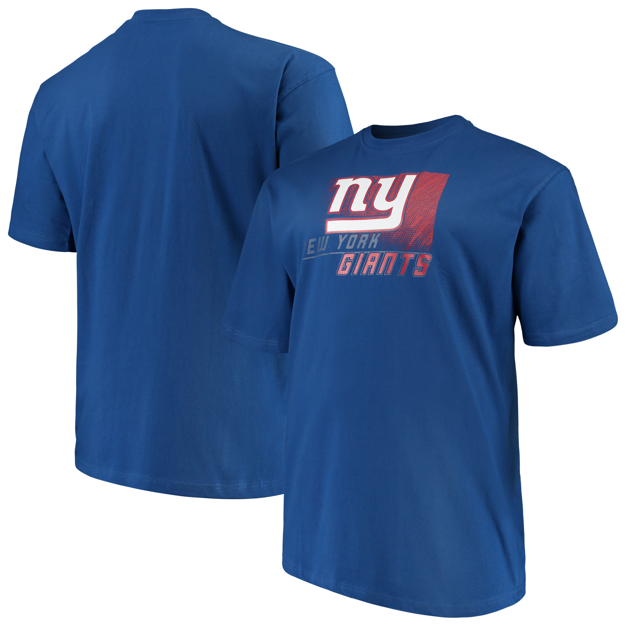 Men's Majestic Royal New York Giants Big & Tall Reflective T-Shirt