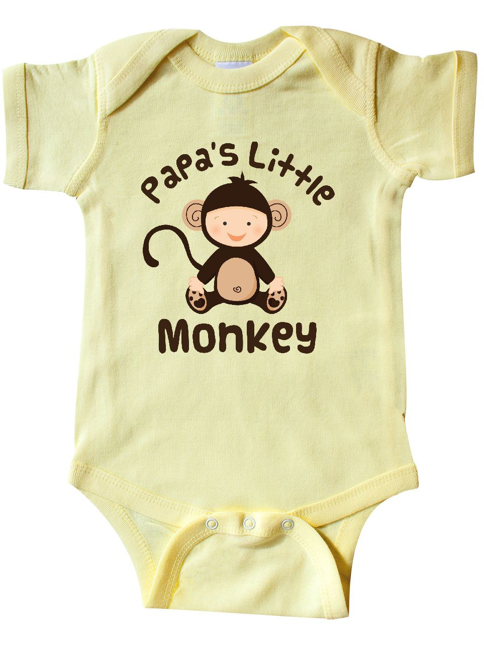 NEW Baby Boys Bodysuit 6-9 Month Monkey Creeper Outfit 1 Piece Yellow