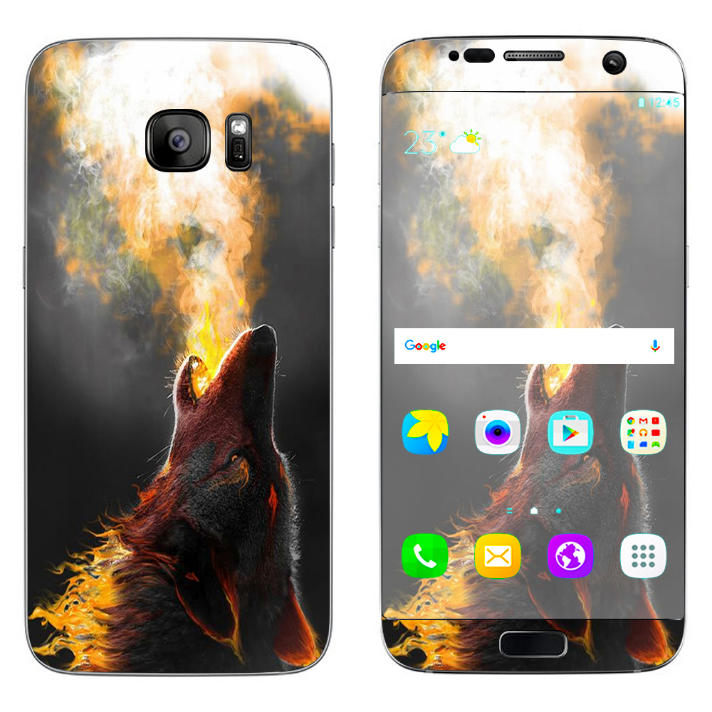 Skins Decals For Samsung Galaxy S7 Edge / Wolf Howling At Moon