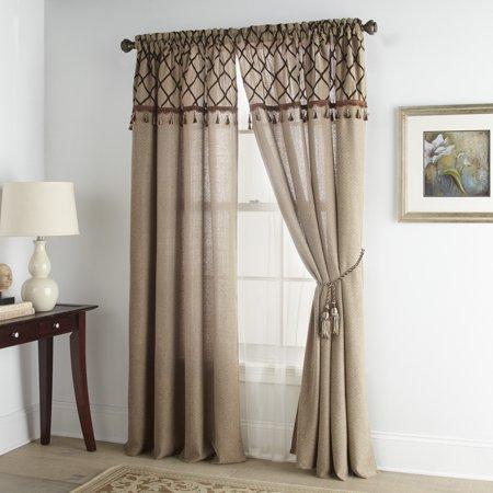 Grand Ave Morocco Multi-Piece Deluxe Luxury Window Set, Taupe Deluxe Window Sash Lift