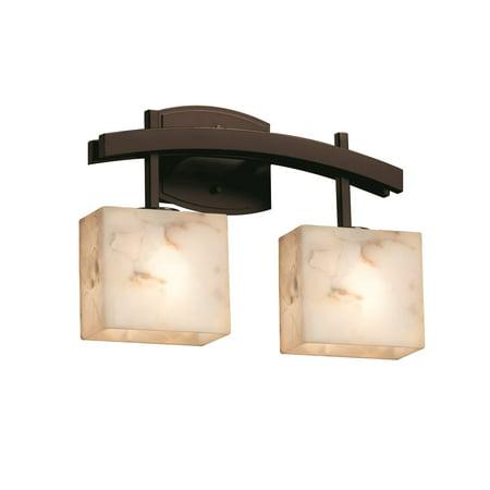 - Justice Designs Alabaster Rocks Archway 2-LT LED Bath Bar - Dark Bronze - ALR-8592-55-DBRZ-LED2-1400