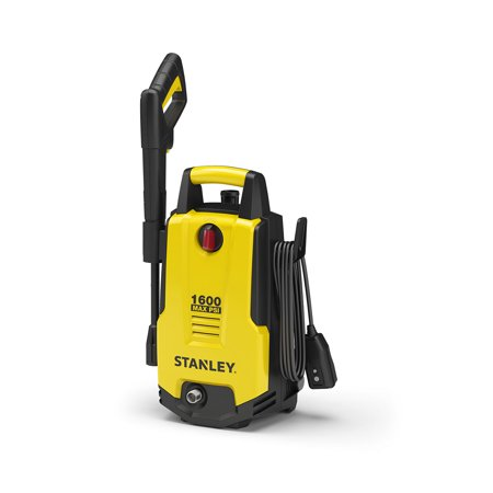 Stanley 1600 PSI Electric Pressure Washer, Vari-Spray Nozzle, Wand, Spray Gun, 20 Foot High Pressure Hose, 35 Foot Power Cord, Detergent Bottle
