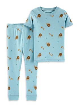 Little Planet Organic by Carter's Toddler Boys Snug Fit Cotton Short Sleeve Pajamas, 2pc Set (2T-5T)