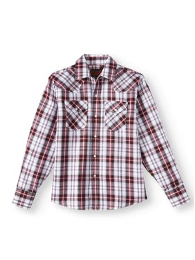 aec8169b3 Product Image Plains Long Sleeve Western Plaid Button Up Shirt (Little Boys  & Big Boys)
