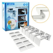 Cabinet Locks Child Safety, ABLEGRID 10 Pack Invisible Baby Proof Drawer Cabinet Locks Latches - Easy Install No Drill No Tool No Key Needed