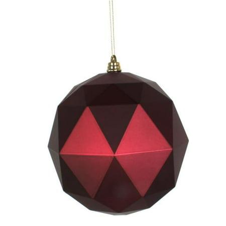Vickerman M177519DM 8 in. Wine Matte Geometric Christmas Ornament Ball - image 1 de 1