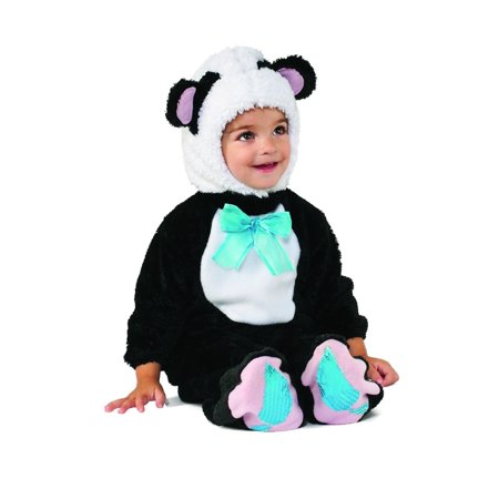 Rubie's Costume Co Baby Panda Bear Super Plush Costume, Multi, Sizes 6-12 M & 12-18 M - Panda Bear Halloween Costume