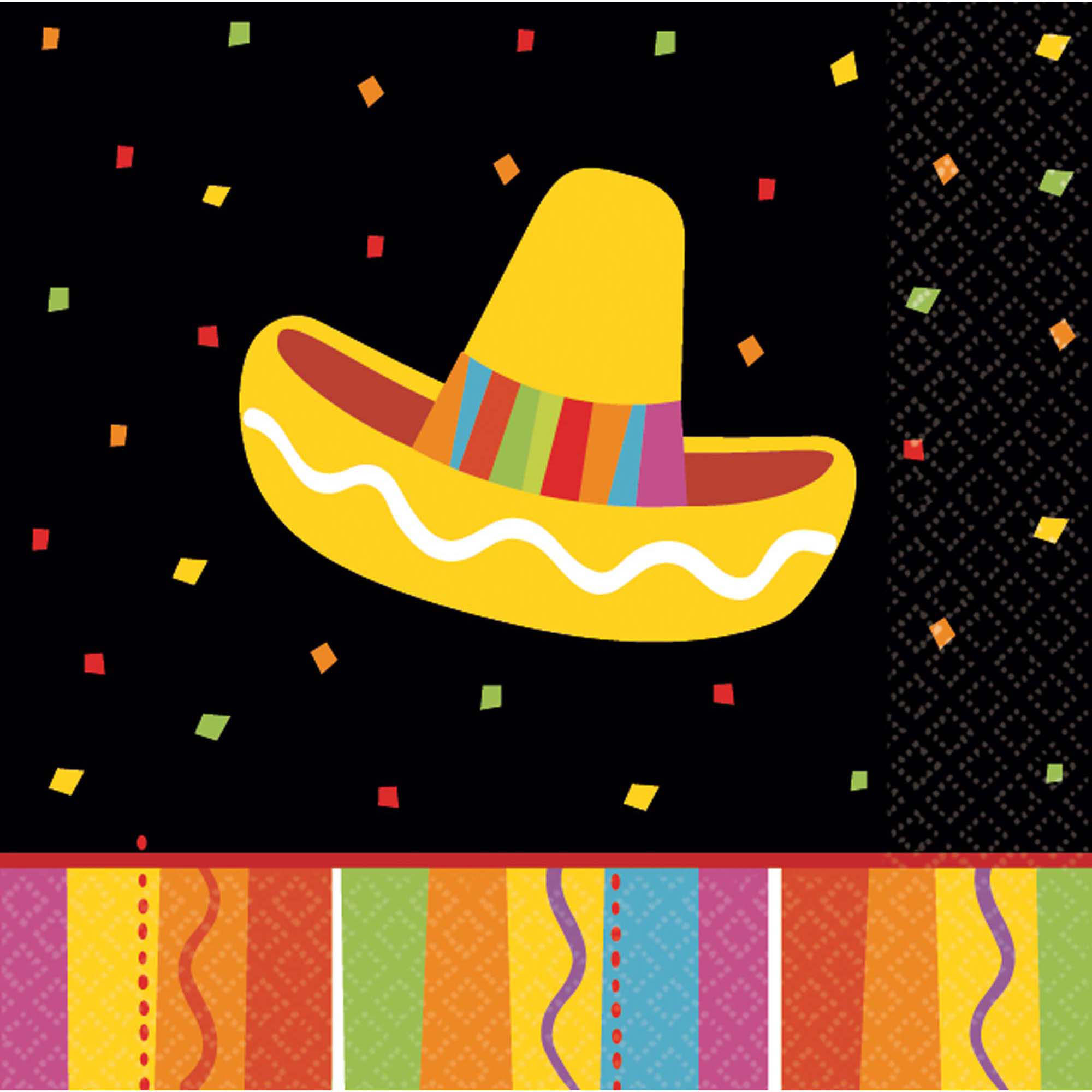 Unbranded Fiesta Fun Beverage Napkins