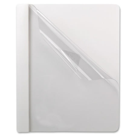 Oxford, OXF58804, Premium Clear Front Report Covers, 25 / Box, White,Clear