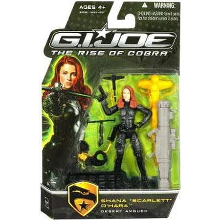 GI Joe The Rise of Cobra Shana O' Hara Scarlett Action Figure [Desert