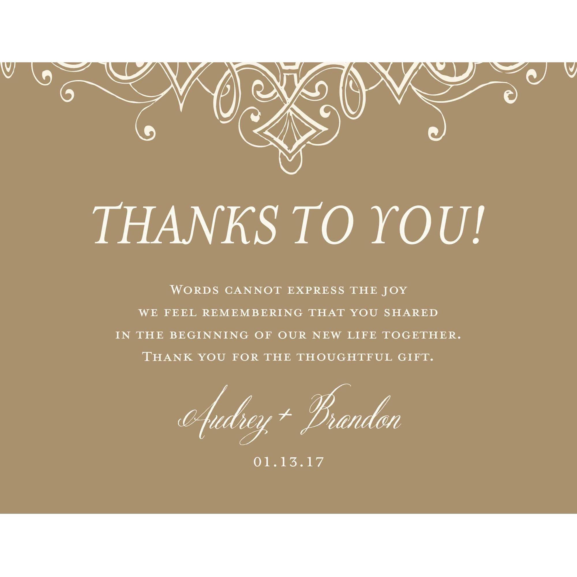 Ornate Flourish Standard Thank You