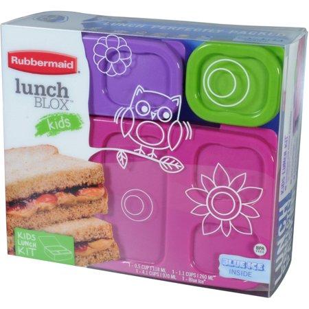 Rubbermaid Girls Lunch Kit Flat Walmart Com