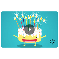 Singing Birthday Cake Walmart eGift Card