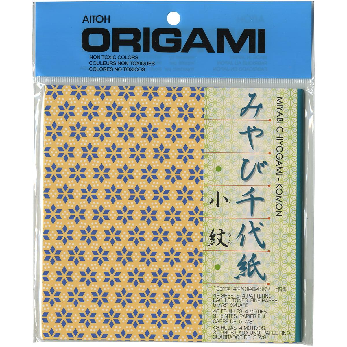 """Origami Paper 6""""X6"""" 48 Sheets-Komon Chiyogami"""