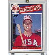 Usa Olympic Soccer Team (Mark McGwire 1985 Baseball NM to Mint Rookie Card #401 (Pictured on USA Olympic Team) Shipped in Protective Screw Down Holder!, By Topps Ship from US )