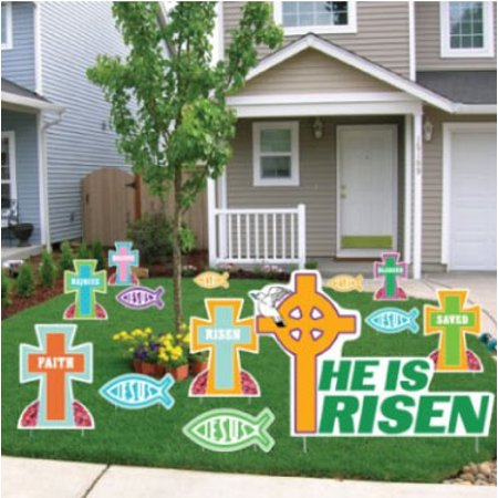 Easter Yard Decorations - Religious - Stand Up Set (13 - Easter Lawn Decorations