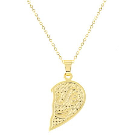 b9d287af26 18k Gold Plated His Her Heart Love Couple Pendant Necklace 19